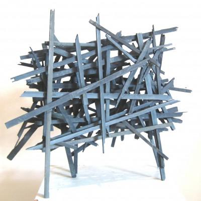 Geflecht<br /> Jahr: 2014<br /> Material: Schiefer<br /> Größe: 40 cm