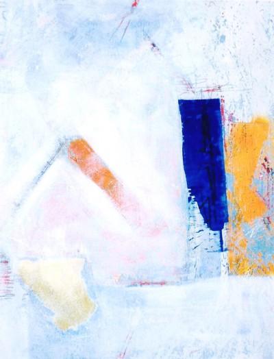 Gebote<br /> Jahr: 1998<br /> Material: Grattage/Collage<br /> Größe: 98 x 76 cm