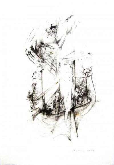Fischer<br /> 2012<br /> Zeichnung<br /> 20 x 30 cm