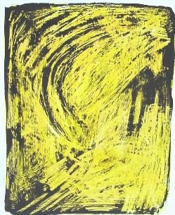 Uferlos<br /> Jahr: 2001<br /> Material: Acryl, Schellack<br /> Größe: Blatt 38 x 27 cm