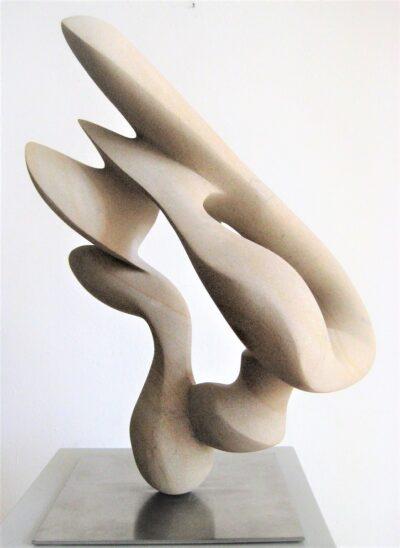 Zeit<br /> 2017<br /> Baumberger Sandstein<br /> H 39 cm, B 26 cm, T 29 cm