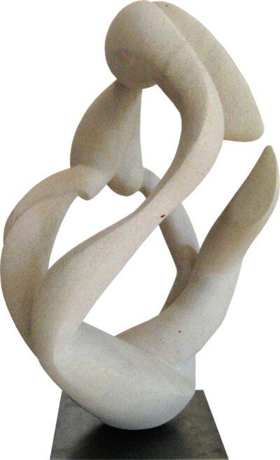 Spannung<br /> 2018<br /> Baumberger Sandstein<br /> Höhe: 47 cm